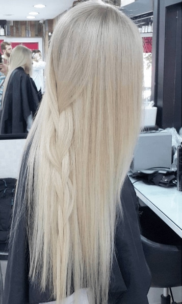 Hair colour trends: baby blonde