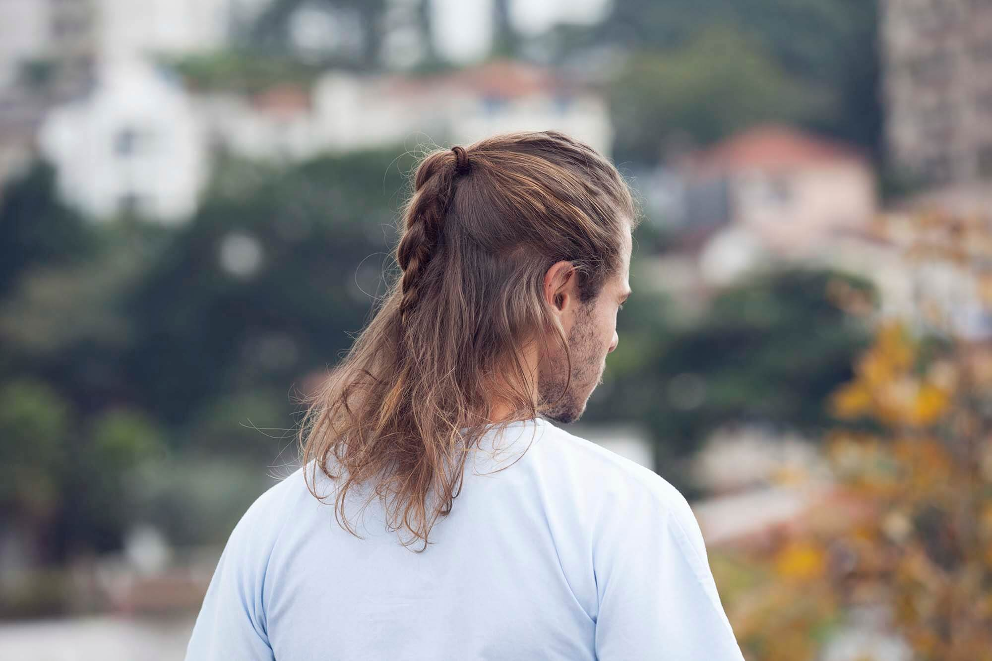 hairstyles for men with long hair man braid