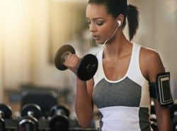 Short hair: Gym ponytail styles for short hair for working out