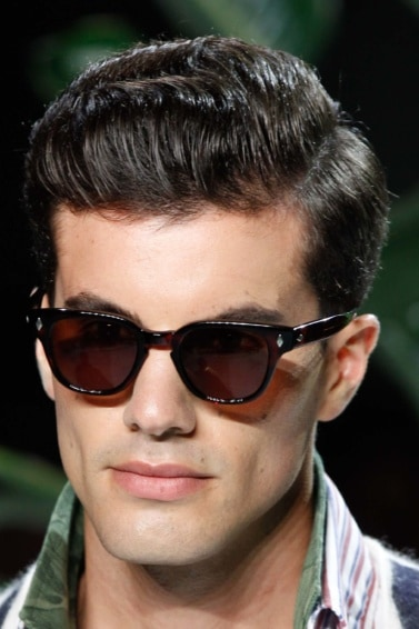wet look side pompadour cool mens hairstyles for thick hair