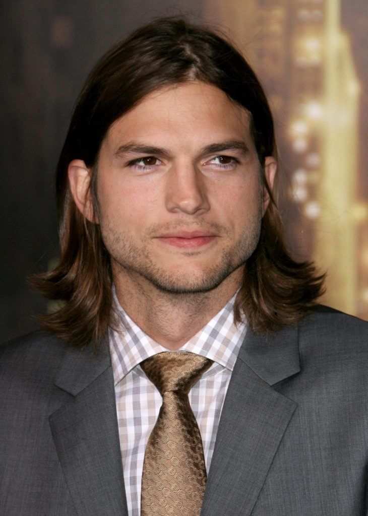 Guys with long hair: All Things Hair - IMAGE - Ashton Kutcher brown hair