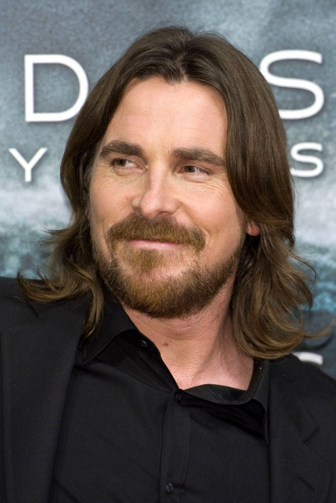 Guys with long hair: All Things Hair - IMAGE - Christian Bale brown hair