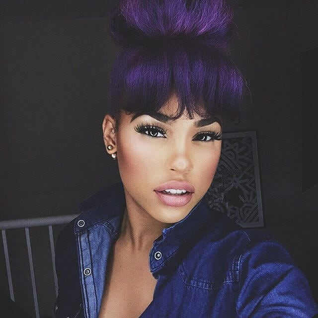 black hairstyles with fringes instagrams best