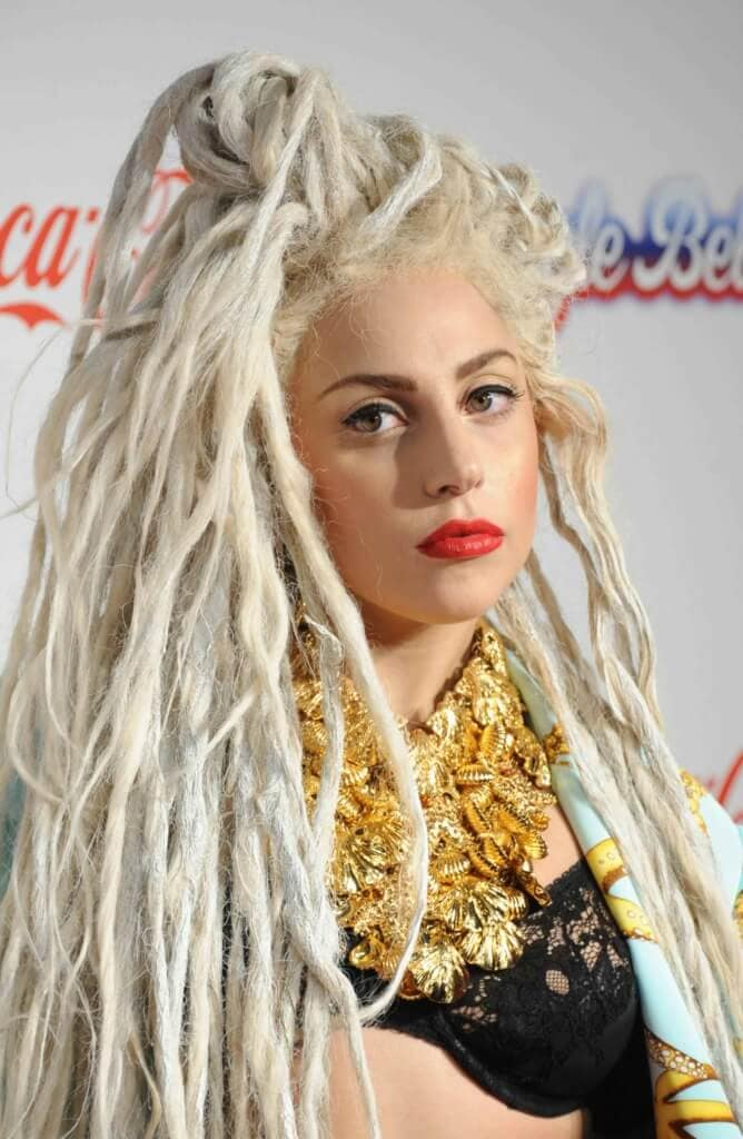 celebrities rocking dreadlocks Lady Gaga