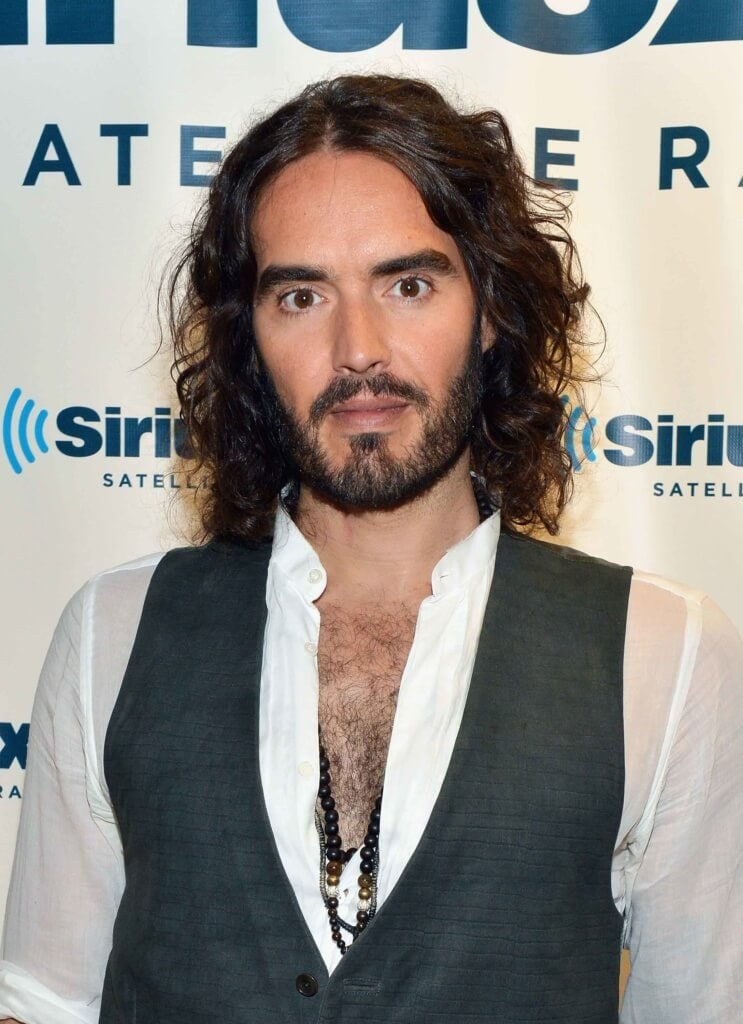 Russell brand guys with long hair