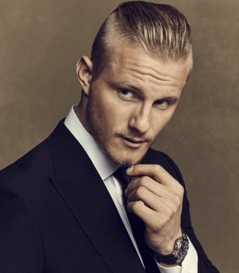 Alexander Ludwig With Short Blonde Hair And A Comber Over