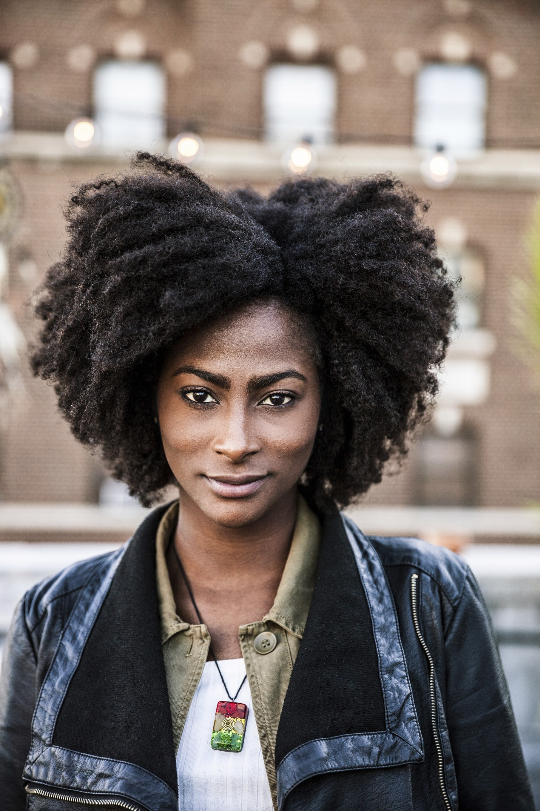Natural afro hair: black woman with natural hair