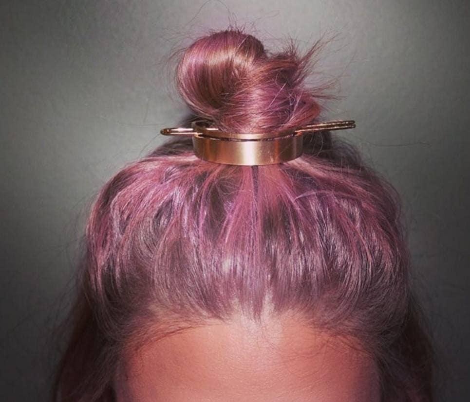 Hair bun: cuff accessory pink hair