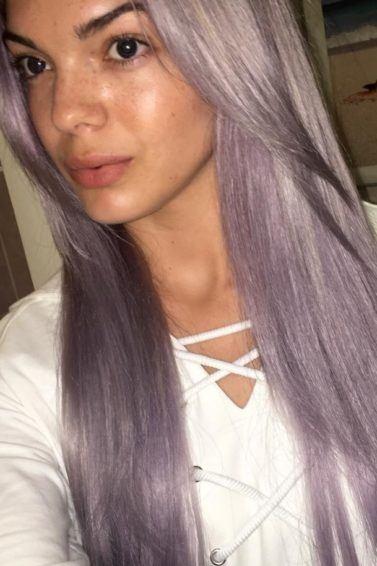 Louisa Johnson purple hair