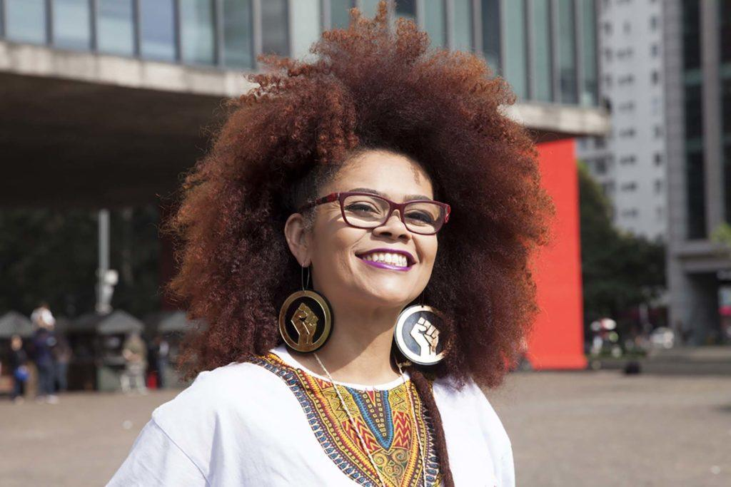 Coloured afro hair styles: warm brown
