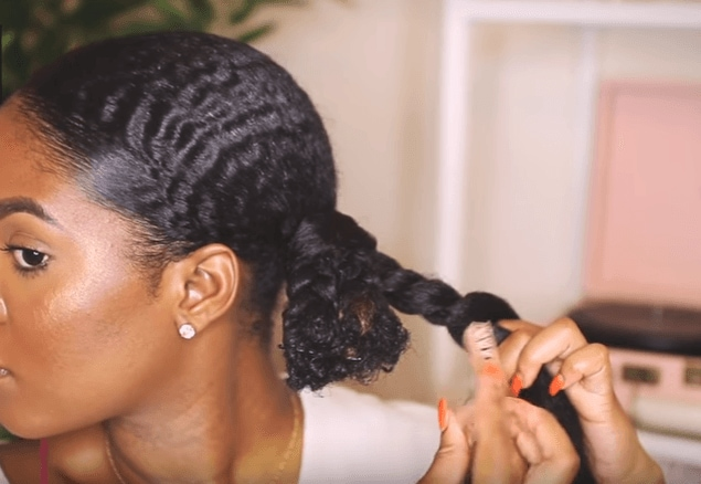 goddess halo braid: connect braiding hair to your plaits