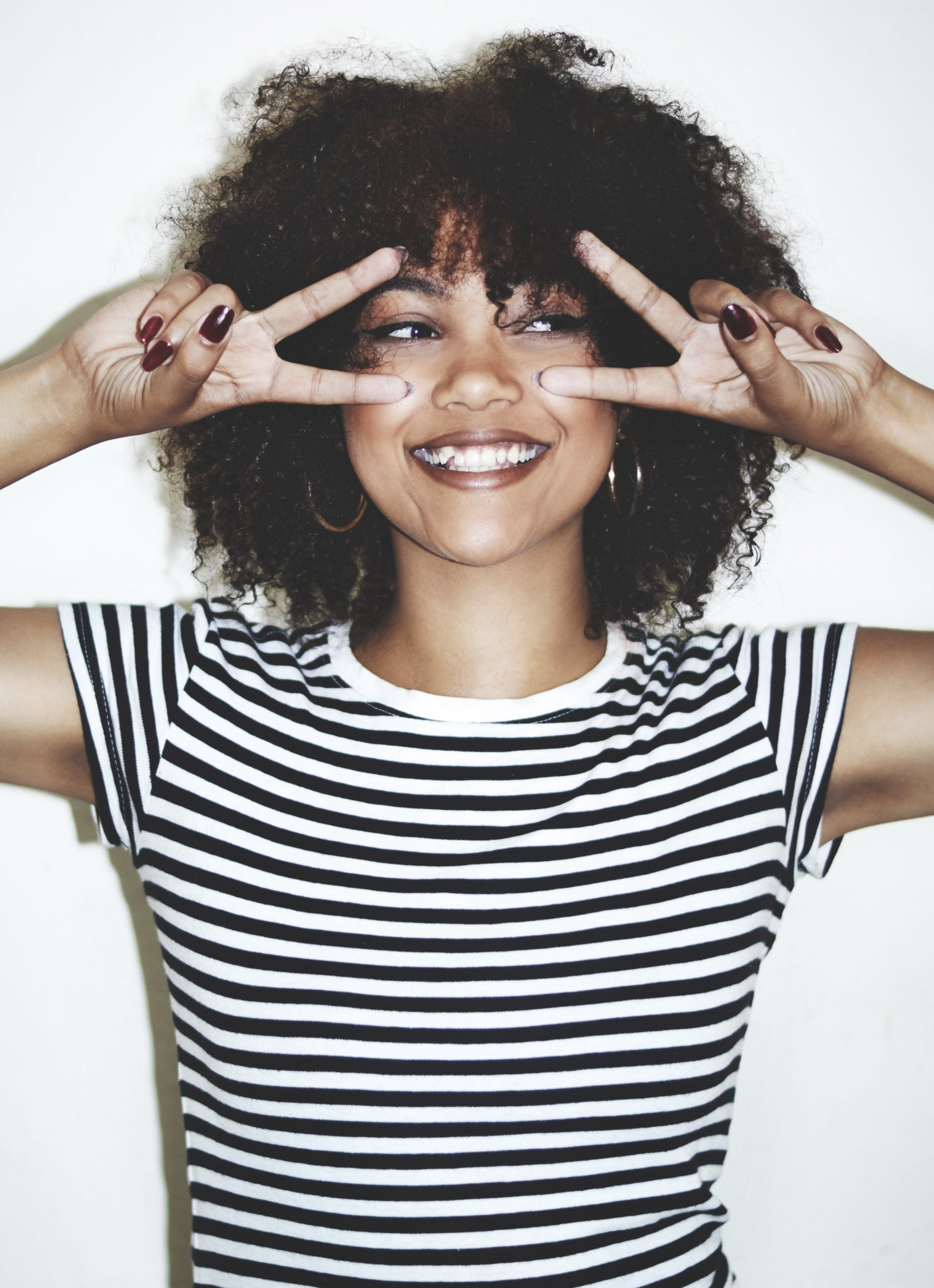 curly natural afro hair woman