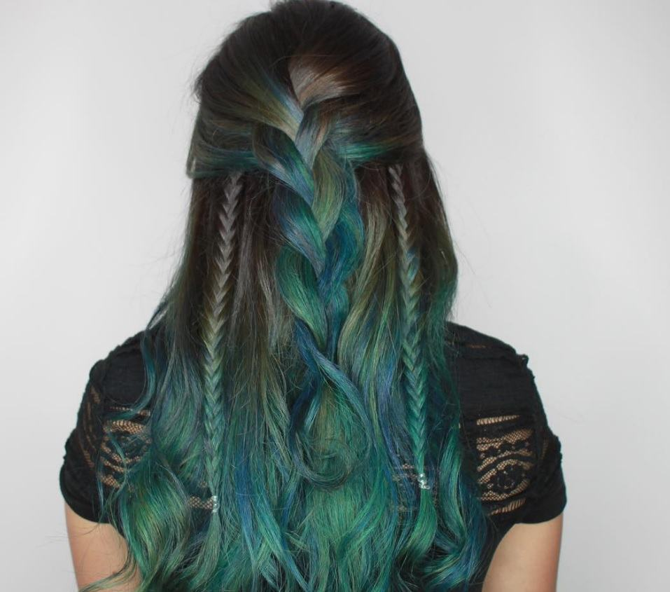 Peacock inspired hairstyles
