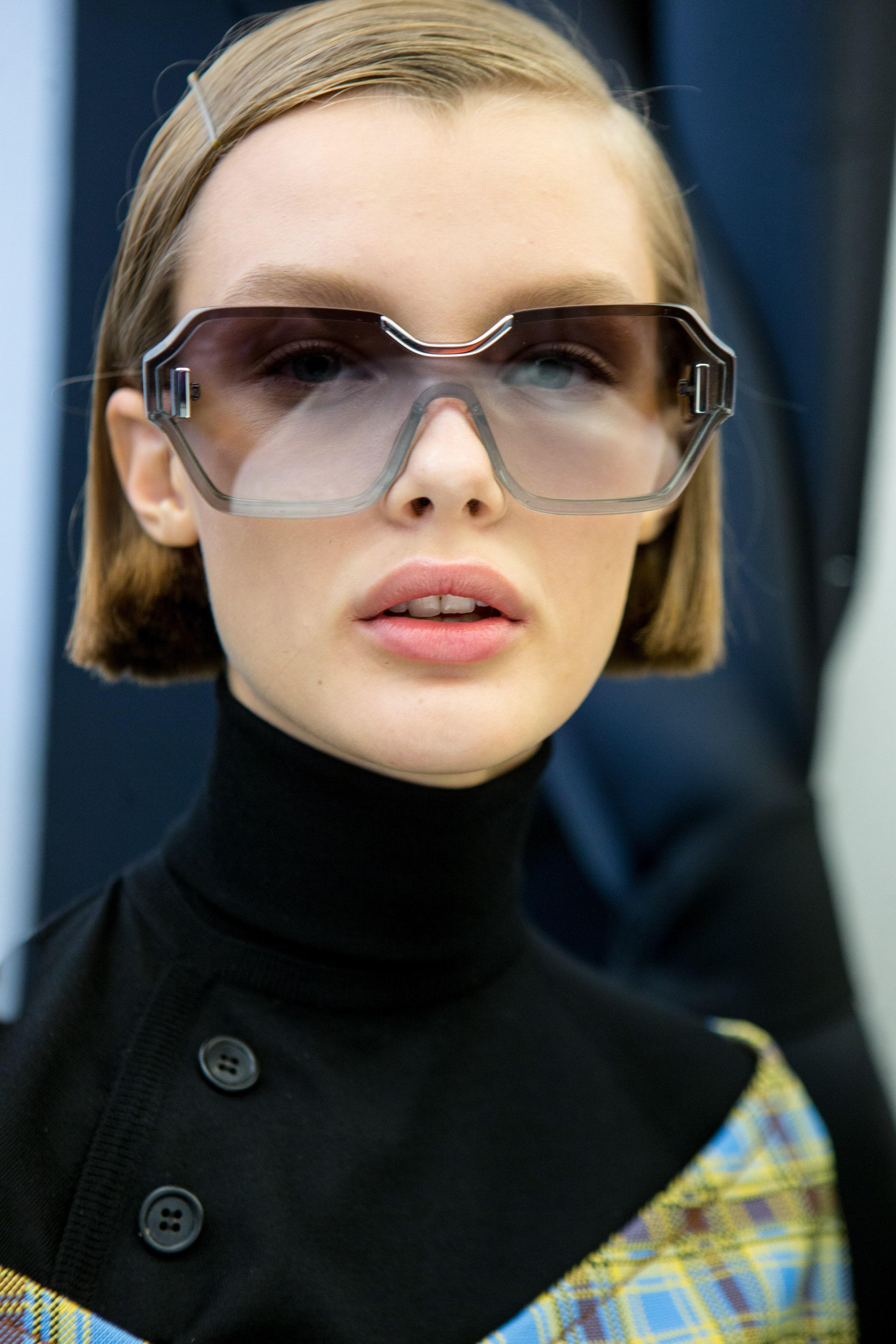 bob haircut with sunglasses Prada SS17