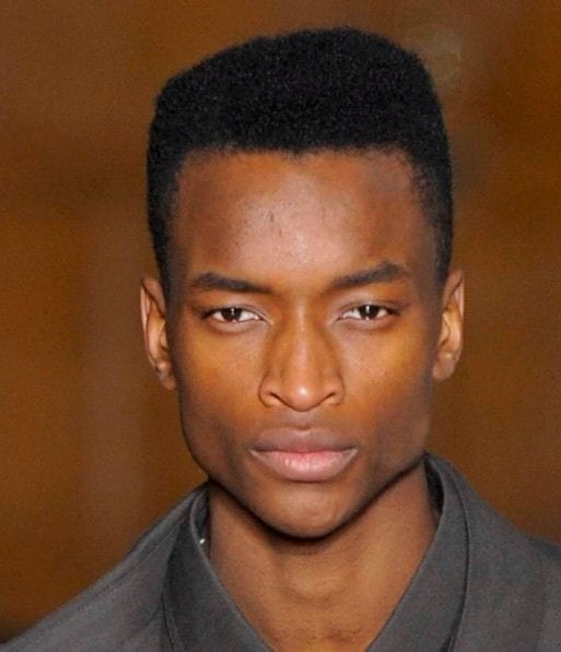 Front View Image Of A Man With Modern High Top Fade Black Men Hairstyles