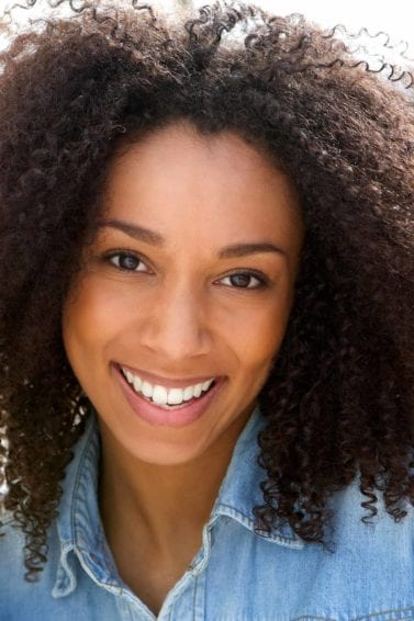 girl with natural afro hair