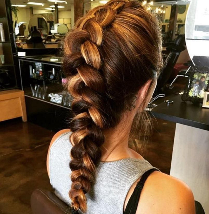 French braid faux hawk braid inspiration: two tone hair