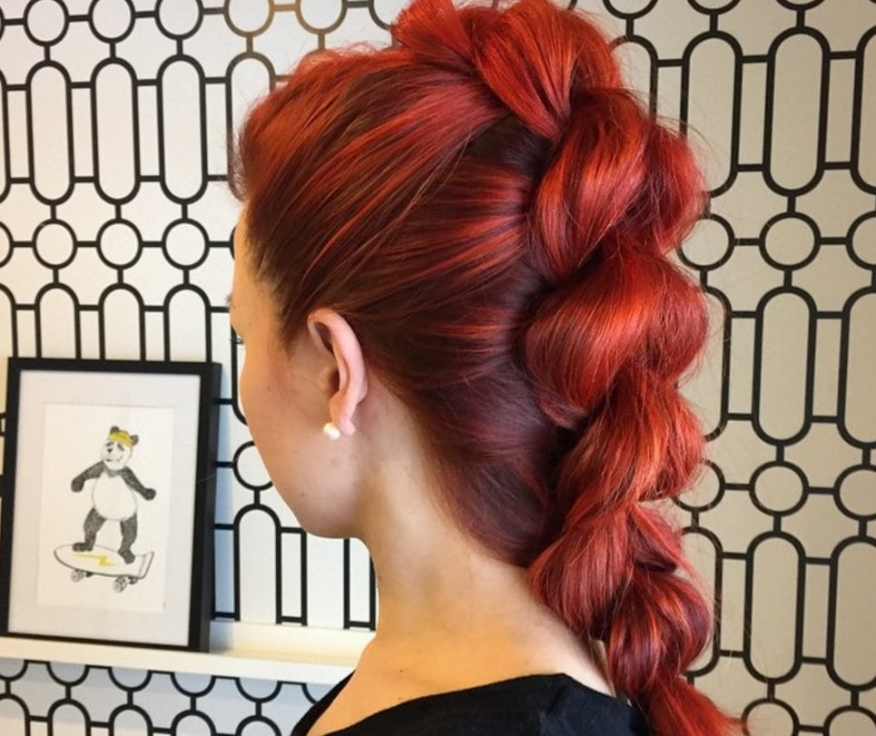 faux hawk braid inspiration: bold hair hues