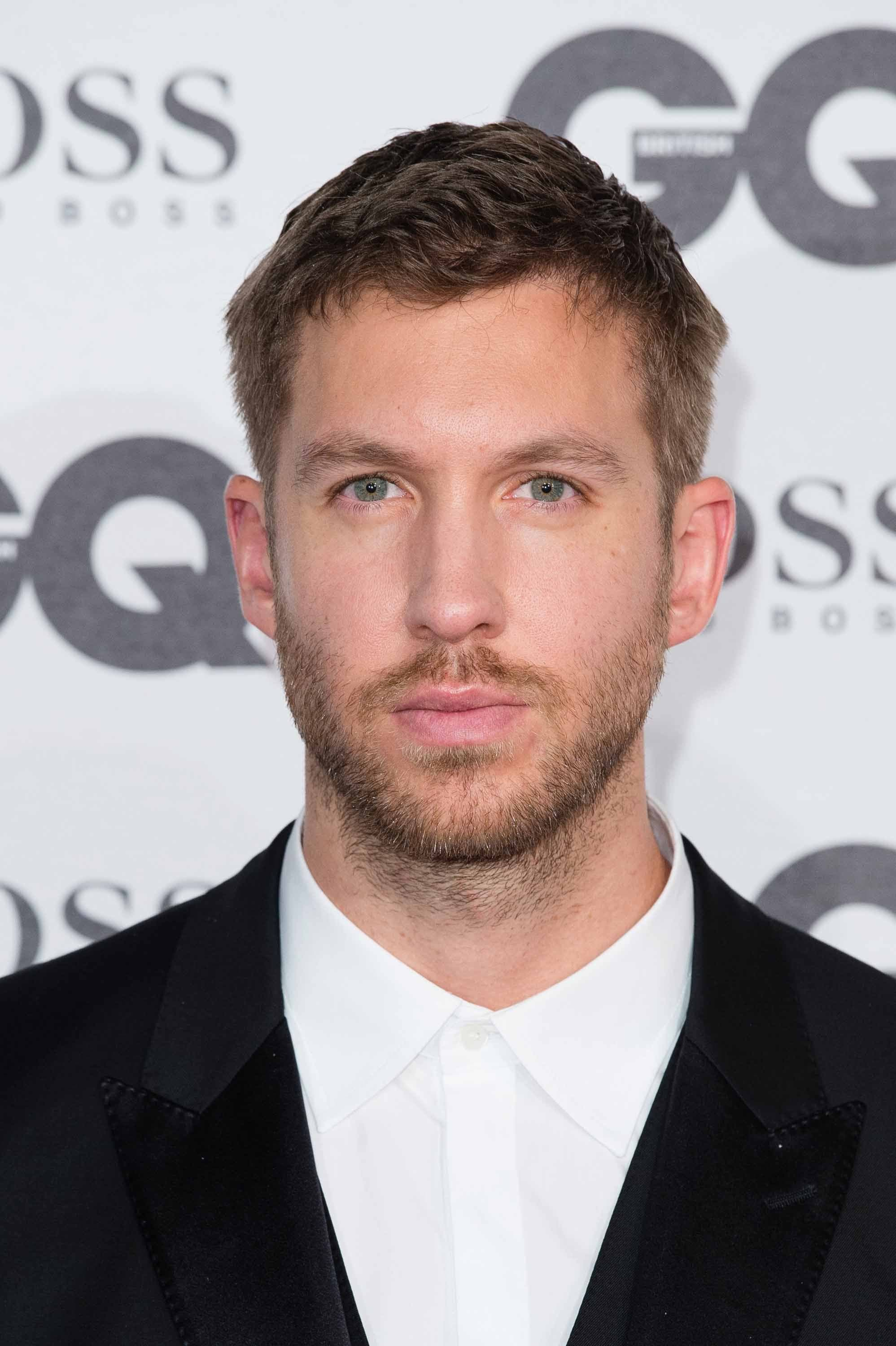 mens hair Calvin Harris GQ awards 2016