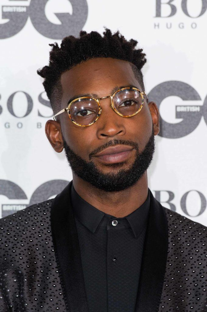 Tinie Tempah at the GQ awards 2016 with a high top fade hairstyle