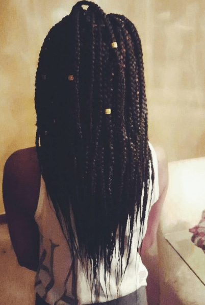 box braids with hair cuff