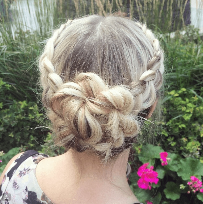 ducth braid tutorial for an elegant updo
