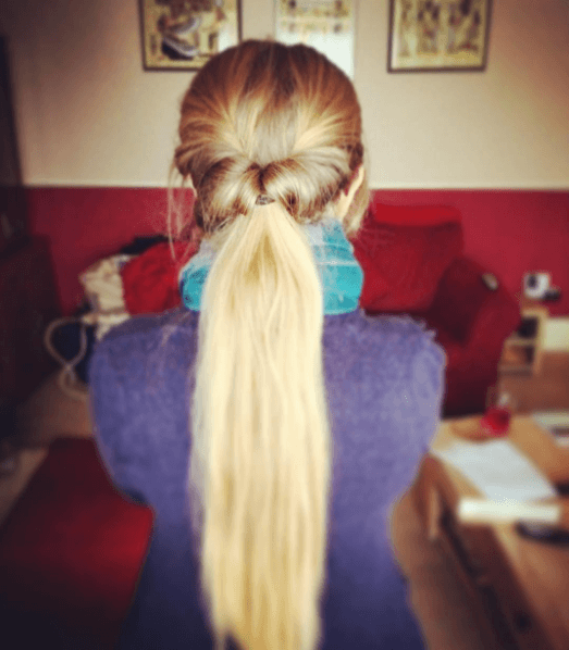 Easy hair ideas: The topsy turvy ponytail.