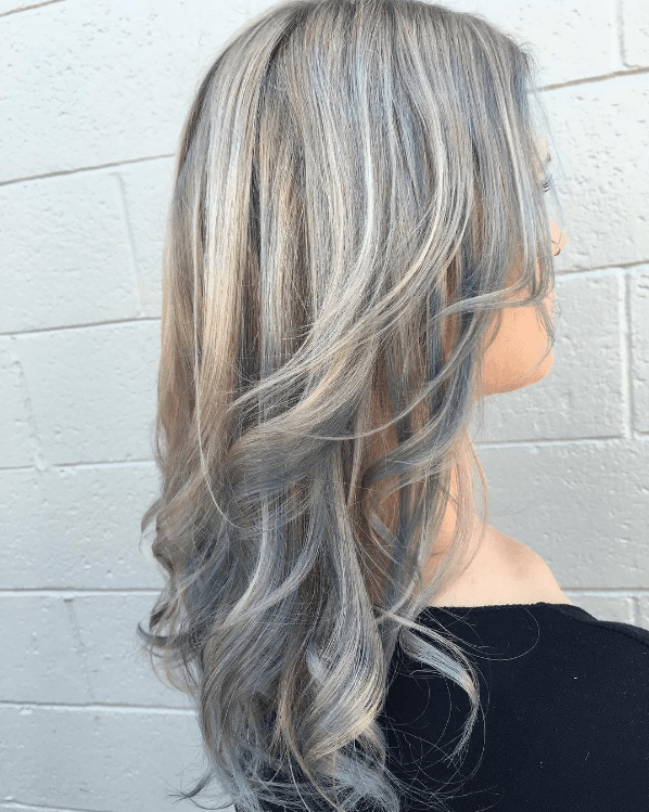 silver metallic hair