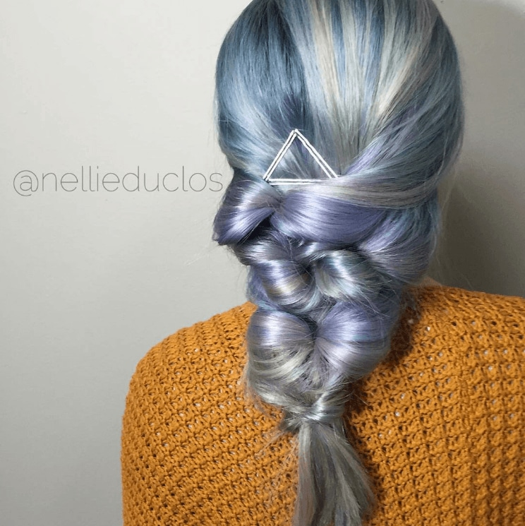 metallic hair plait
