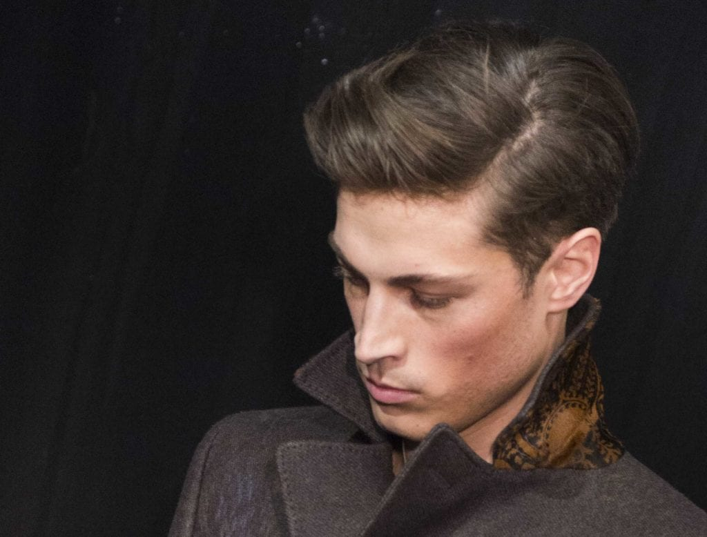 Front View Image Of A Model With Dark Hair And A Side Parting   Mens  Haircuts