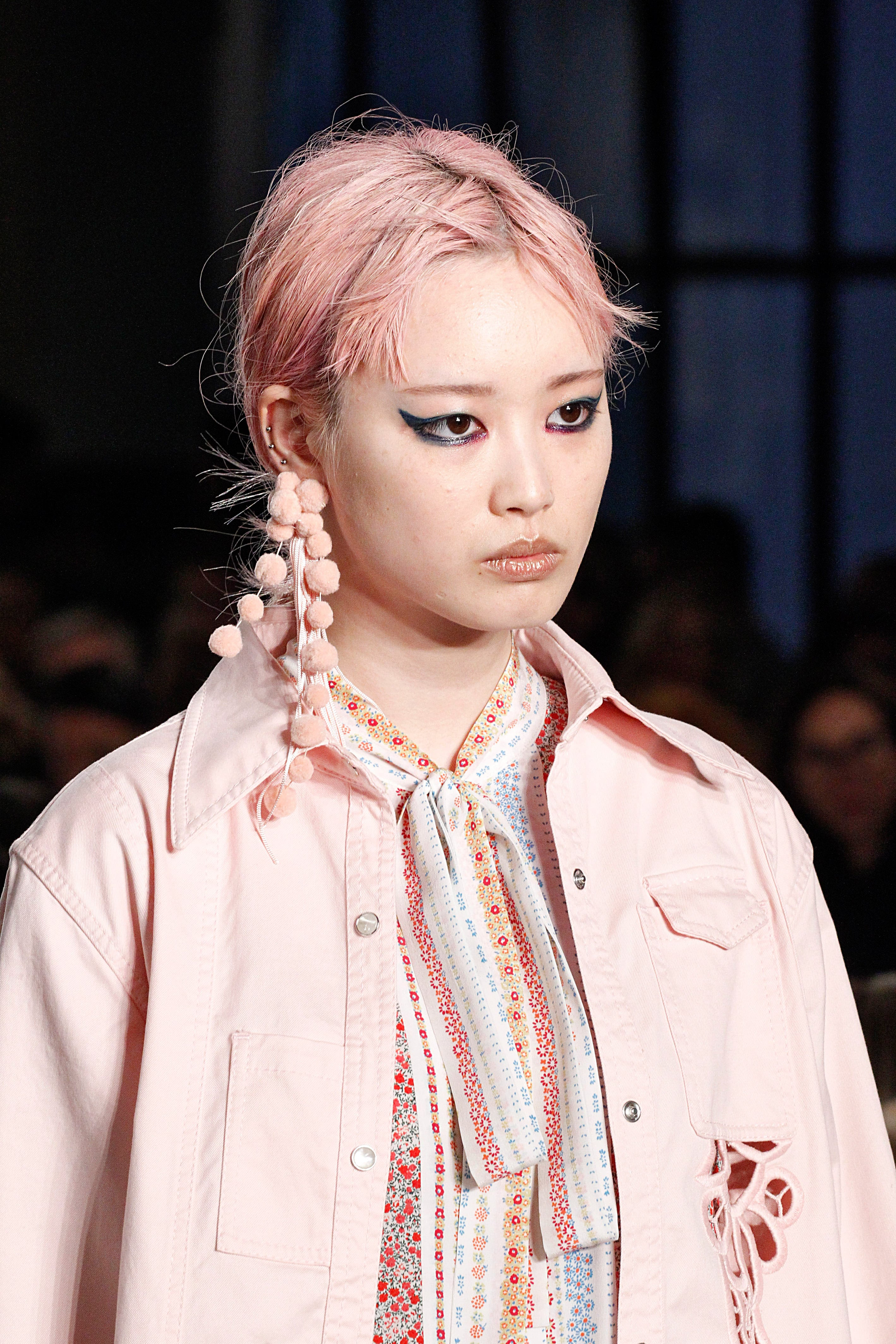Best hair MFW SS17: All Things Hair - IMAGE - Pink hair No.21