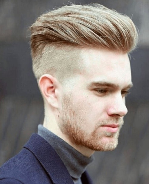 Side View Of A Man With Brown Hair And Disconnected Undercut
