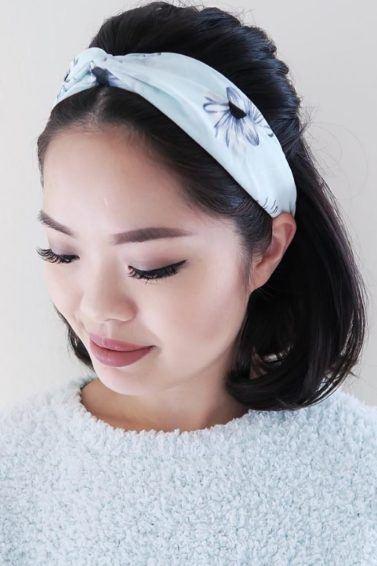 Cute hairstyles for short hair: All Things Hair - IMAGE - half-up, half-down bouffant Instagram bandana