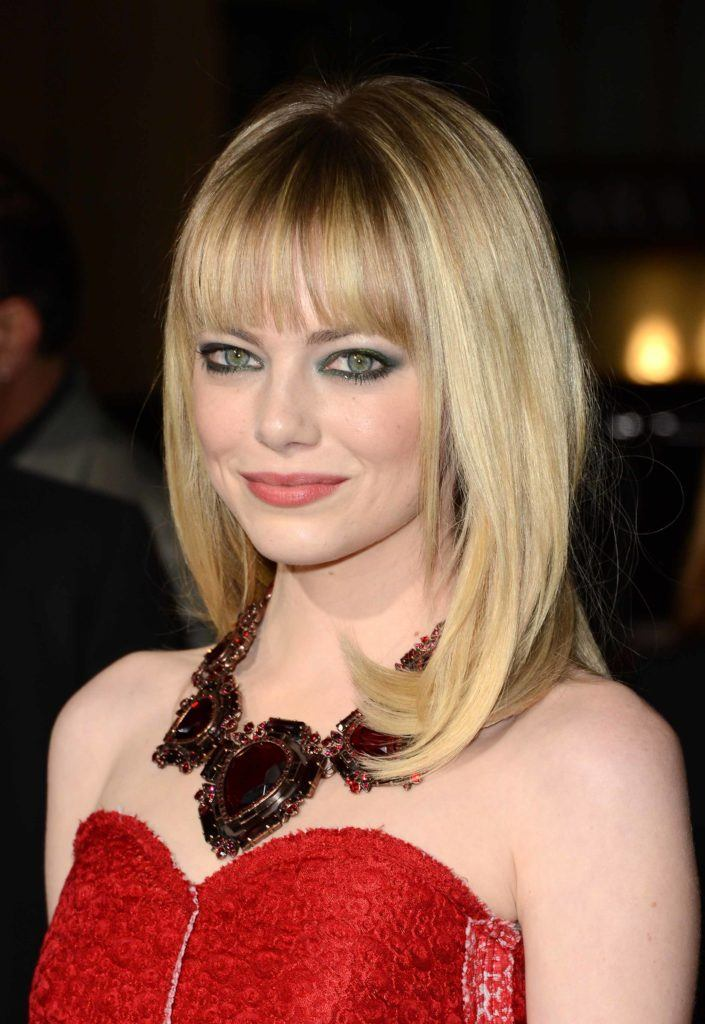 Natural blonde: All Things Hair - IMAGE - celebrity Emma Stone blonde hair with fringe