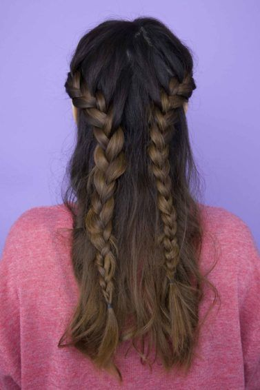 French braid hairstyles: All Things Hair - IMAGE - half-up, half-down braided hairstyle