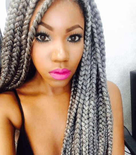 Grey hair trend: All Things Hair - IMAGE - protective box braids