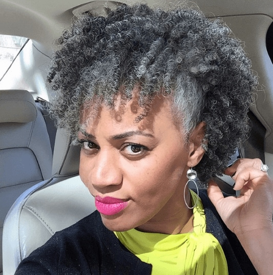 Grey Hair Trend For Naturals Instagram Hairspiration All Things