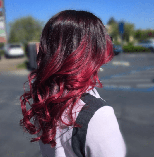 Red balayage: All Things Hair - IMAGE - bold bright