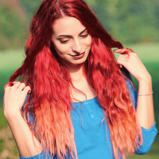 Red balayage: All Things Hair - IMAGE - multiple shades of red