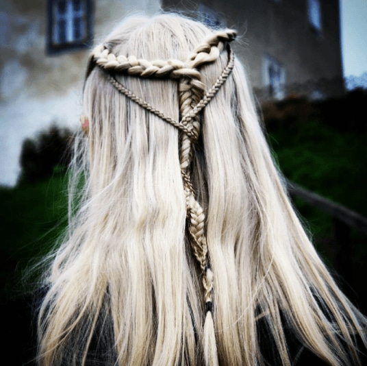 Medieval hairstyles: All Things Hair - IMAGE - half up braid white hair