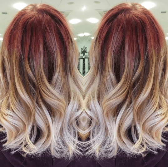 Red balayage: All Things Hair - IMAGE - blonde and red