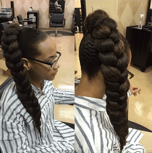 long braids: The long braided ponytail