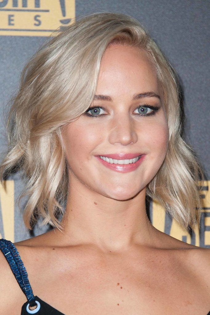 Natural blonde: All Things Hair - IMAGE - celebrity Jennifer Lawrence blonde bob