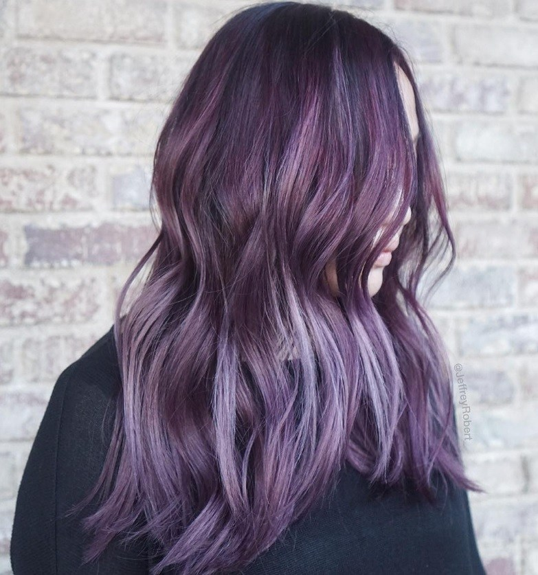 Halloween 2016: All Things Hair - IMAGE - purple ombre long wavy hair