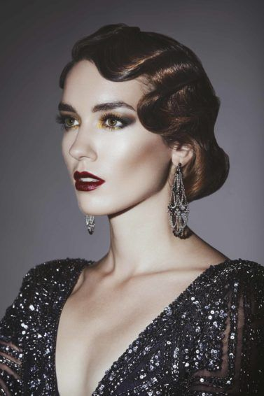 flapper hairstyles flapper makeup