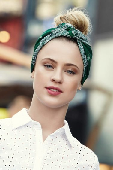 vintage updo: All Things Hair - IMAGE - vintage bandana style blonde