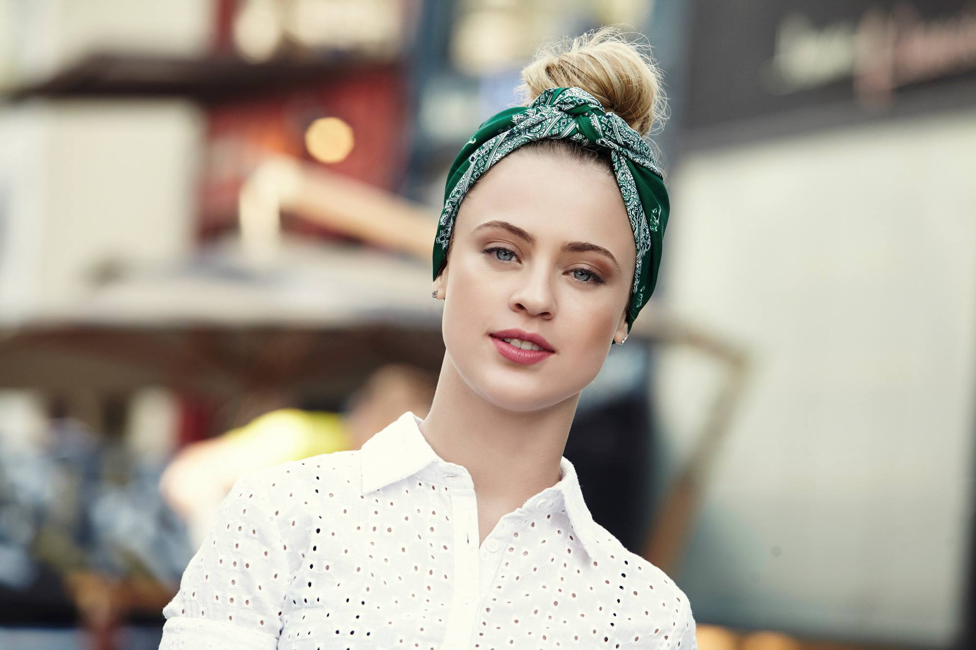 How To Create A Vintage Updo With A Bandana All Things Hair Uk