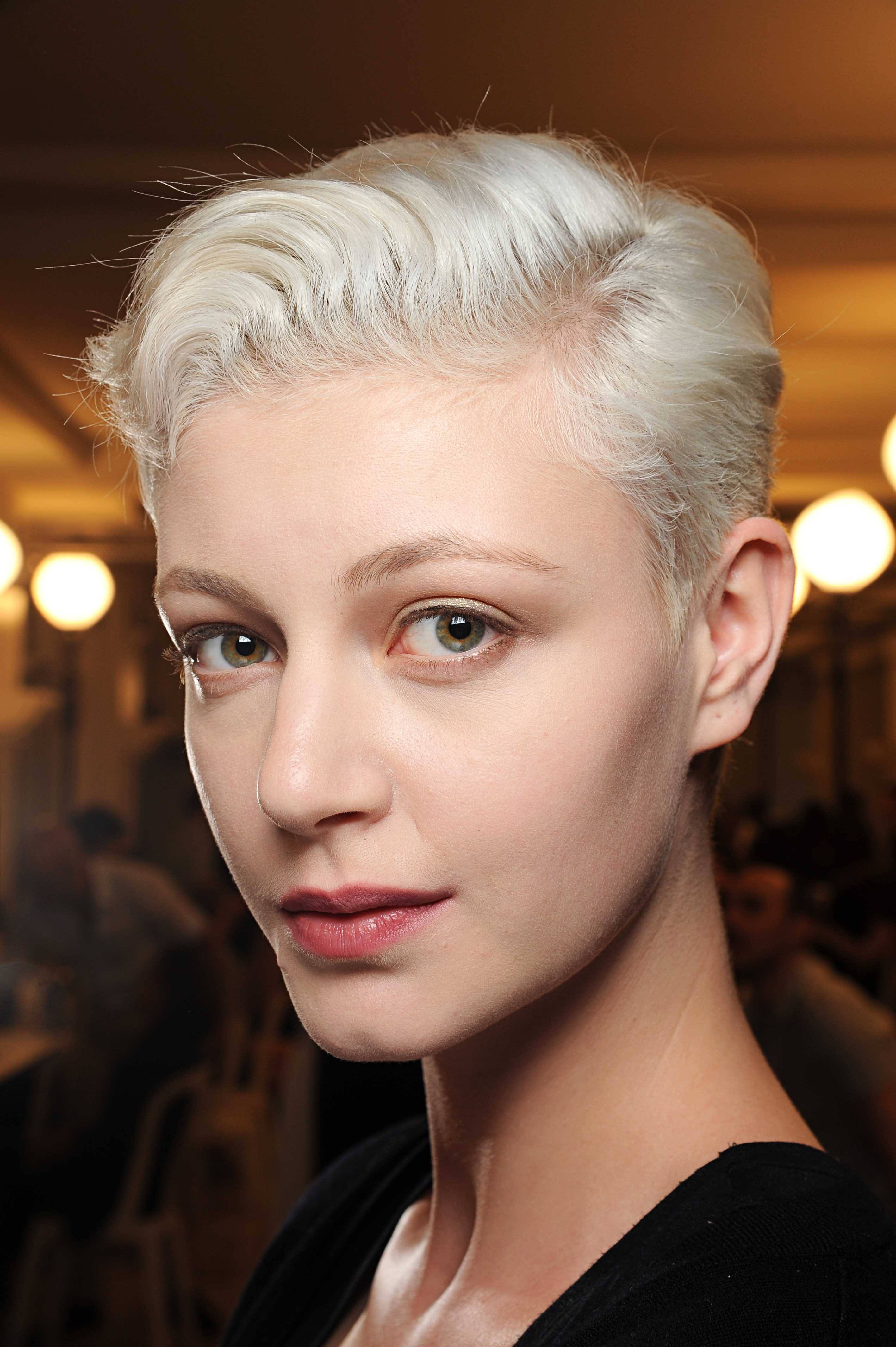 Best haircuts for round faces: All Things Hair - IMAGE - pixie crop volume bleach blonde