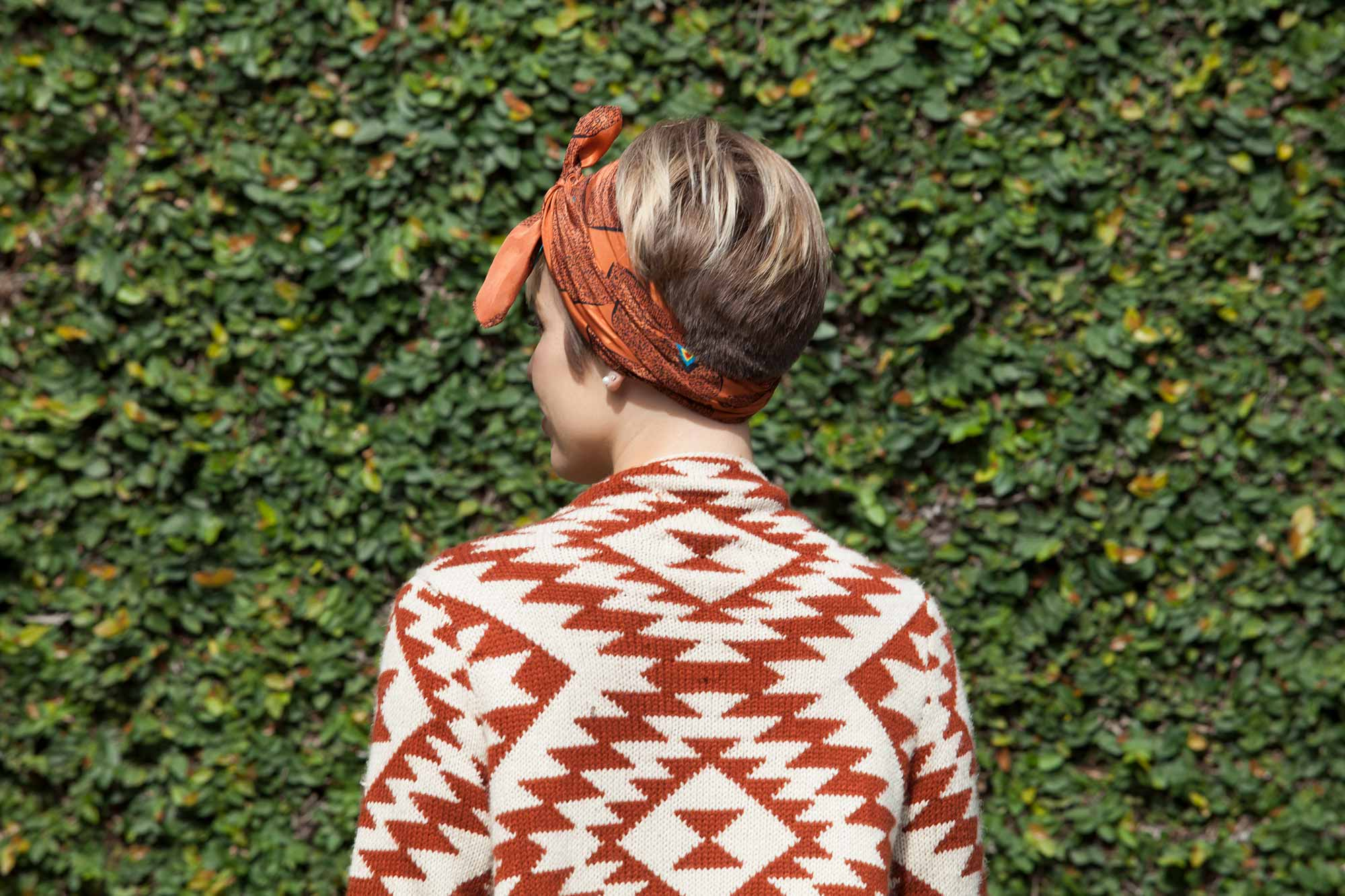 Christmas party hairstyles for short hair: All Things Hair - IMAGE - bandana hair accessory pixie crop