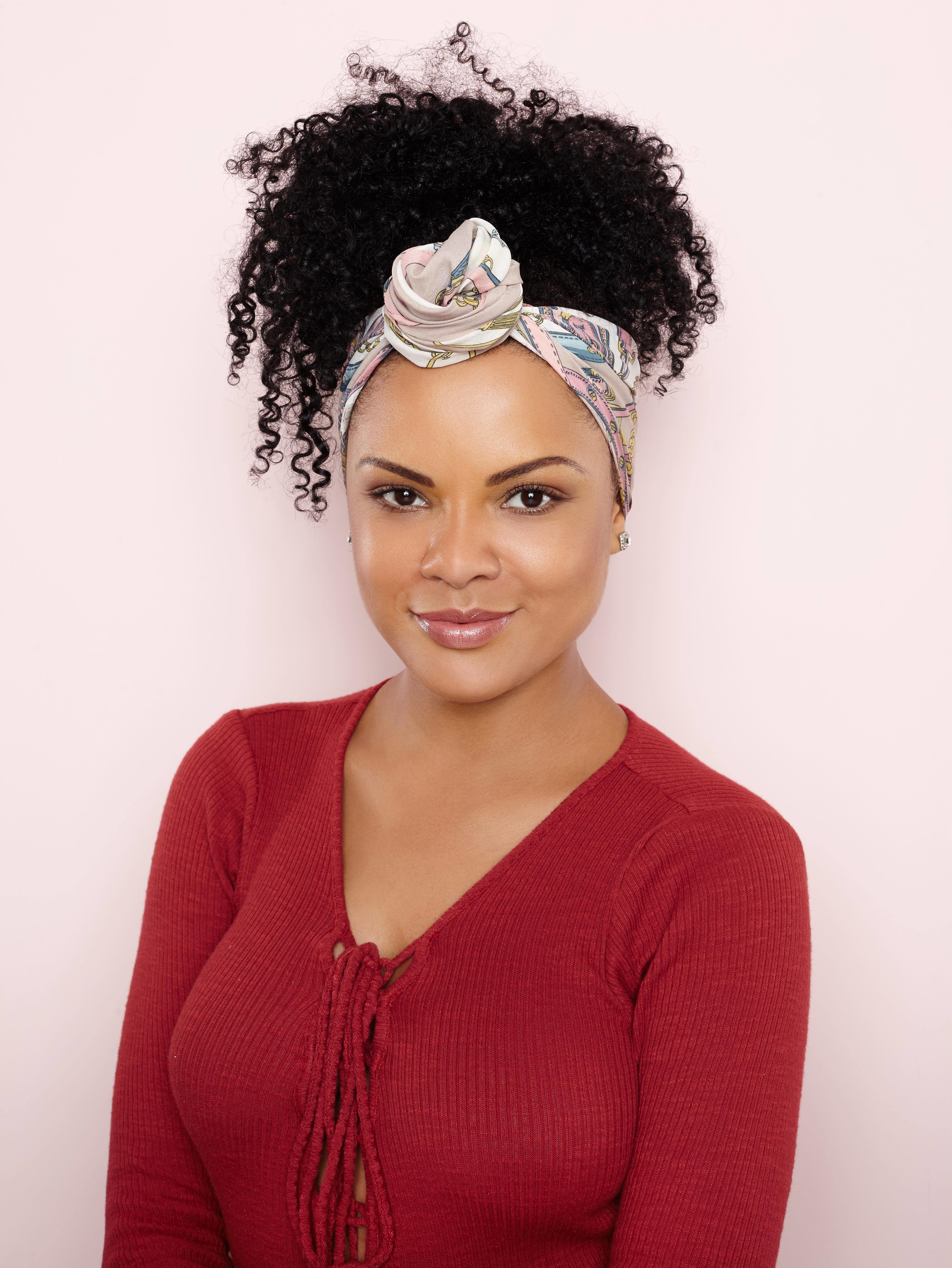 Curly hair styles: All Things Hair - IMAGE - ponytail bandana hair accessory
